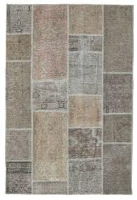 Patchwork Tapis 121X182 Moderne Fait Main Gris Clair/Gris Foncé (Laine, Perse/Iran)