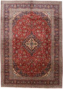 Kashan Covor 288X408 Orientale Lucrat Manual Roșu-Închis/Maro Deschis Mare (Lână, Persia/Iran)