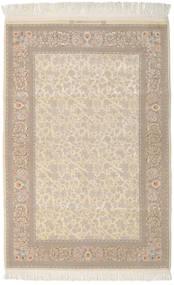 Isfahan Seidenkette Signatur: Dardashti Teppich  112X168 Echter Orientalischer Handgeknüpfter Hellbraun/Dunkel Beige (Wolle/Seide, Persien/Iran)