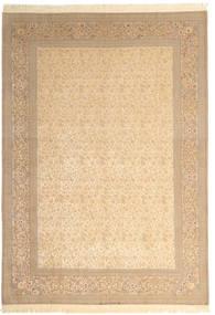 Isfahan Silkerenning Signert: Dardashti Teppe 250X350 Ekte Orientalsk Håndknyttet Mørk Beige/Lysbrun Stort (Ull/Silke, Persia/Iran)