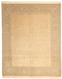 Isfahan Seidenkette Signatur: Dardashti Teppich  247X312 Echter Orientalischer Handgeknüpfter Dunkel Beige/Hellbraun (Wolle/Seide, Persien/Iran)