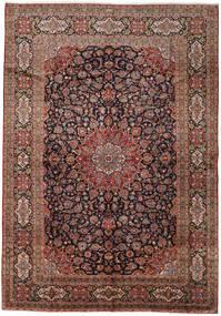 Kashan Tapis 288X417 D'orient Fait Main Noir/Marron Clair Grand (Laine, Perse/Iran)