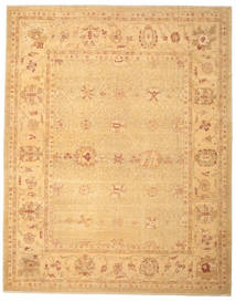 Oushak Rug 321X401 Authentic  Oriental Handknotted Light Brown/Dark Beige Large (Wool, Turkey)