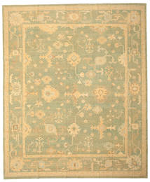 Oushak Rug 330X400 Authentic Oriental Handknotted Light Green/Dark Beige Large (Wool, Turkey)