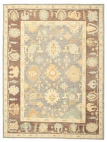 Oushak Rug 265X347 Authentic  Oriental Handknotted Dark Beige/Beige/Light Brown Large (Wool, Turkey)