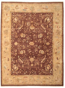 Oushak Rug 308X411 Authentic  Oriental Handknotted Light Brown/Dark Red Large (Wool, Turkey)