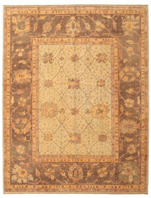 Oushak Rug 256X322 Authentic  Oriental Handknotted Light Brown/Brown Large (Wool, Turkey)