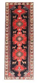 Saveh Tæppe 110X300 Ægte Orientalsk Håndknyttet Tæppeløber Mørkegrøn/Brun (Uld, Persien/Iran)