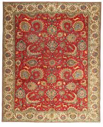 Tabriz Patina Vloerkleed 302X378 Echt Oosters Handgeknoopt Roestkleur/Lichtbruin Groot (Wol, Perzië/Iran)