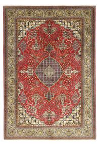 Ghom Kork/Silke Teppe 212X313 Ekte Orientalsk Håndknyttet Lysbrun/Brun (Ull/Silke, Persia/Iran)