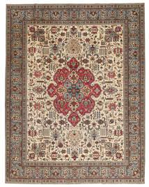 Tabriz Patina Matto 298X380 Itämainen Käsinsolmittu Vaaleanruskea/Beige Isot (Villa, Persia/Iran)