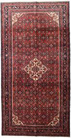 Hosseinabad Koberec 160X310 Orientální Ručně Tkaný Běhoun Hnědá/Černá (Vlna, Persie/Írán)