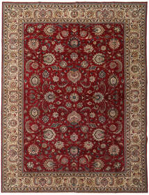 Tabriz Patina Matto 300X397 Itämainen Käsinsolmittu Tummanpunainen/Tummanruskea Isot (Villa, Persia/Iran)