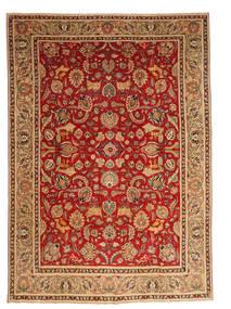Tabriz Patina Teppe 280X387 Ekte Orientalsk Håndknyttet Mørk Rød/Lysbrun Stort (Ull, Persia/Iran)