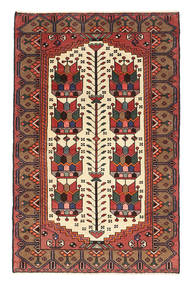 Nahavand Patina Rug 80X123 Authentic Oriental Handknotted Dark Brown/Dark Red (Wool, Persia/Iran)