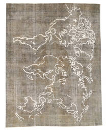 Colored Vintage Rug 280X385 Authentic  Modern Handknotted Light Grey/Light Brown Large (Wool, Pakistan)