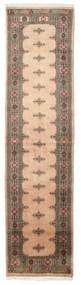 Pakistan Bokhara 3Ply Matto 79X318 Itämainen Käsinsolmittu Käytävämatto Vaaleanruskea/Ruskea/Tummanbeige (Villa, Pakistan)
