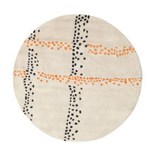 Delight Handtufted - Orange Rug Ø 150 Modern Round Beige/Light Grey (Wool, India)