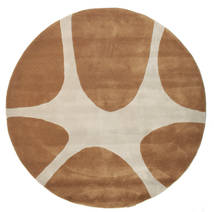 Stones Handtufted - Brown Rug Ø 150 Modern Round Brown/Light Brown (Wool, India)
