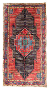 Kurdi Rug 153X289 Authentic  Oriental Handknotted Purple/Brown (Wool, Persia/Iran)