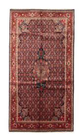 Bidjar Koberec 153X288 Orientální Ručně Tkaný Hnědá/Tmavě Červená (Vlna, Persie/Írán)