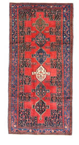 Senneh Rug 123X269 Authentic  Oriental Handknotted Dark Purple/Dark Red (Wool, Persia/Iran)