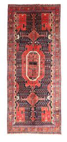 Kurdi Vloerkleed 152X268 Echt Oosters Handgeknoopt Donkerpaars/Roestkleur (Wol, Perzië/Iran)