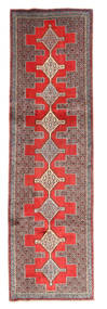 Senneh Rug 91X314 Authentic  Oriental Handknotted Hallway Runner  Light Brown/Dark Red (Wool, Persia/Iran)
