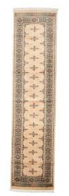 Pakistan Bokhara 3Ply Rug 76X311 Authentic  Oriental Handknotted Hallway Runner  Beige/Light Grey (Wool, Pakistan)