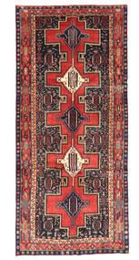 Kurdi Matta 147X330 Äkta Orientalisk Handknuten Hallmatta Roströd/Svart (Ull, Persien/Iran)