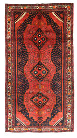 Kurdi Rug 152X289 Authentic  Oriental Handknotted Rust Red/Dark Green (Wool, Persia/Iran)