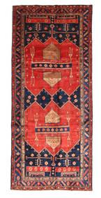 Kurdi Rug 160X364 Authentic Oriental Handknotted Hallway Runner Dark Grey/Brown (Wool, Persia/Iran)
