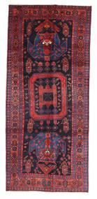 Kurdi Matta 136X308 Äkta Orientalisk Handknuten Hallmatta Mörklila/Mörkröd (Ull, Persien/Iran)