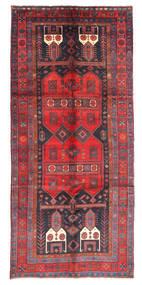 Kurdi Vloerkleed 146X331 Echt Oosters Handgeknoopt Tapijtloper Donkerrood/Donkergrijs (Wol, Perzië/Iran)