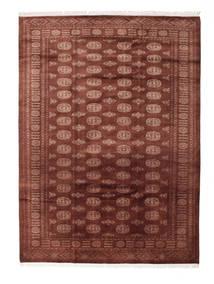 パキスタン ブハラ 3Ply 絨毯 201X278 オリエンタル 手織り 深紅色の/茶 (ウール, パキスタン)