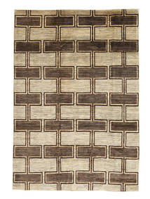 Ziegler Moderni Matto 202X294 Moderni Käsinsolmittu Beige/Tummanruskea/Vaaleanruskea (Villa, Pakistan)