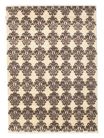 Himalaya Rug 139X195 Authentic  Modern Handknotted Light Brown/Yellow (Wool, India)