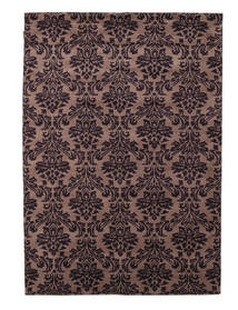 Himalaya Matto 169X241 Moderni Käsinsolmittu Tummanpunainen/Vaaleanruskea (Villa, Intia)