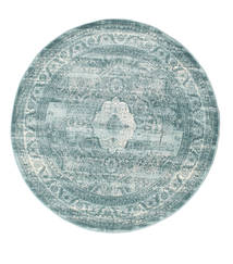 Jacinda - Light Rug Ø 150 Modern Round Light Blue/Dark Turquoise   ( Turkey)