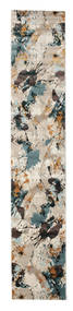 Xenia - Beige/Blue Rug 80X400 Modern Hallway Runner  Light Grey/Dark Grey ( Turkey)