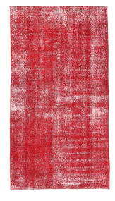 Colored Vintage Rug 112X210 Authentic  Modern Handknotted Crimson Red/Rust Red/Pink (Wool, Turkey)