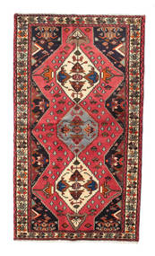 Hamadan Rug 126X217 Authentic  Oriental Handknotted Brown/Black (Wool, Persia/Iran)
