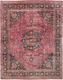 Mashad Signed: Akhondzadeh Rug 386X487 Authentic  Oriental Handknotted Dark Red/Dark Brown Large (Wool, Persia/Iran)