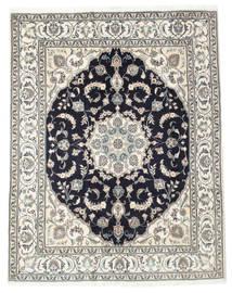 Nain Alfombra 196X248 Oriental Hecha A Mano Gris Claro/Gris Oscuro (Lana, Persia/Irán)