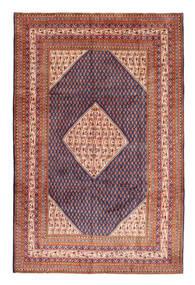 Sarough Mir Teppe 210X320 Ekte Orientalsk Håndknyttet Mørk Rød/Rust (Ull, Persia/Iran)
