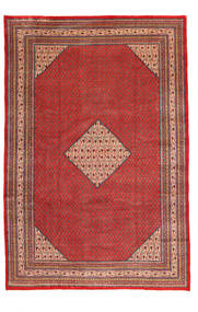 Sarough Mir Matta 245X360 Äkta Orientalisk Handknuten Mörkröd/Roströd (Ull, Persien/Iran)