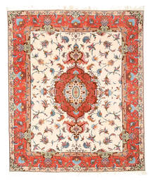 タブリーズ 50 Raj 絹の縦糸 絨毯 ABCN257