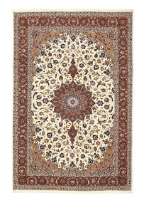 Tabriz 50 Raj Rug 201X304 Authentic  Oriental Handknotted Light Brown/Beige (Wool/Silk, Persia/Iran)