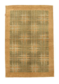 Ziegler Moderna Matta 139X196 Äkta Modern Handknuten Ljusbrun/Olivgrön (Ull, Pakistan)