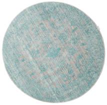 Maharani - Grau/Blau Teppich  Ø 150 Moderner Rund Hellgrau/Lindgrün ( Türkei)